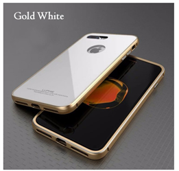 Etui Luphie Glass Bumper Apple iPhone 7 - Gold-White