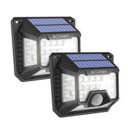 External Blitzwolf LED solar lamp BW-OLT3 with dusk and motion sensor, 1200mAh (2 pcs)