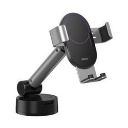 Gravity car mount for Baseus Tank phone with suction cup (silver)