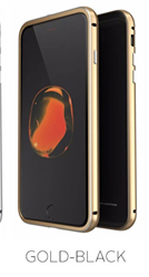 Etui Luphie Glass Bumper Apple iPhone 7 Plus-Gold-Black